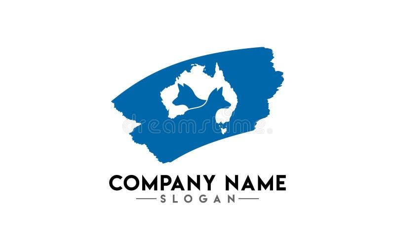 Diseño animal australiano del logotipo ilustración del vector