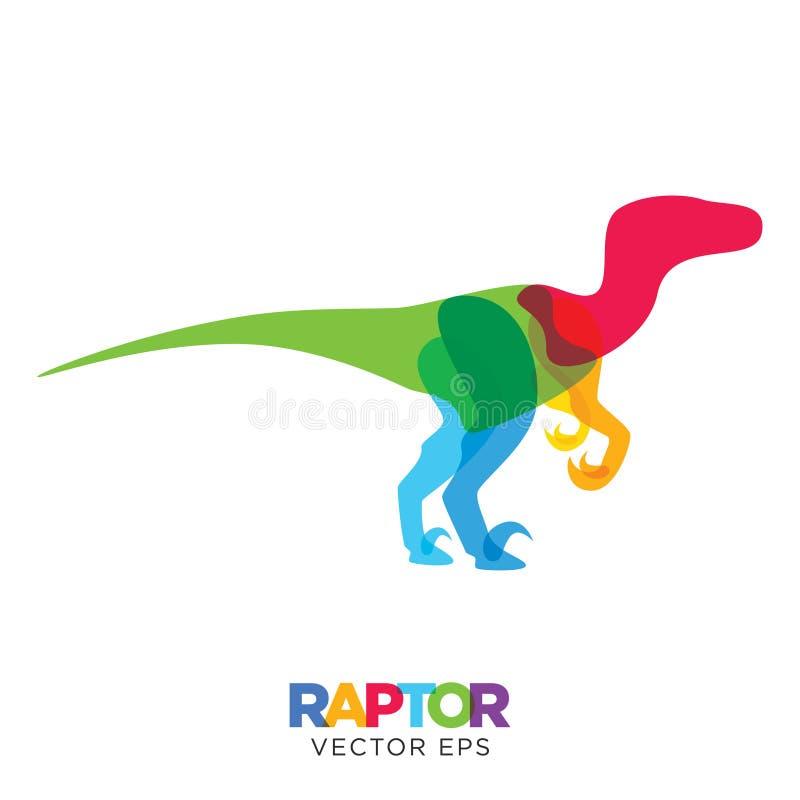 Diseño animal del dinosaurio creativo del Velociraptor, vector EPS 10 ilustración del vector