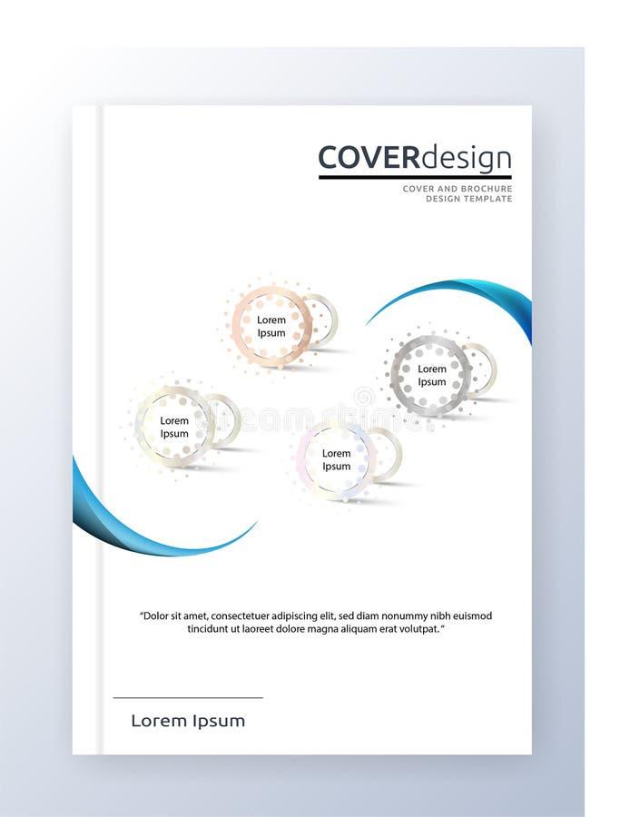 Diseño anual del tamaño de la plantilla A4 del aviador del prospecto del vector del folleto, diseño de la disposición de la cubie ilustración del vector