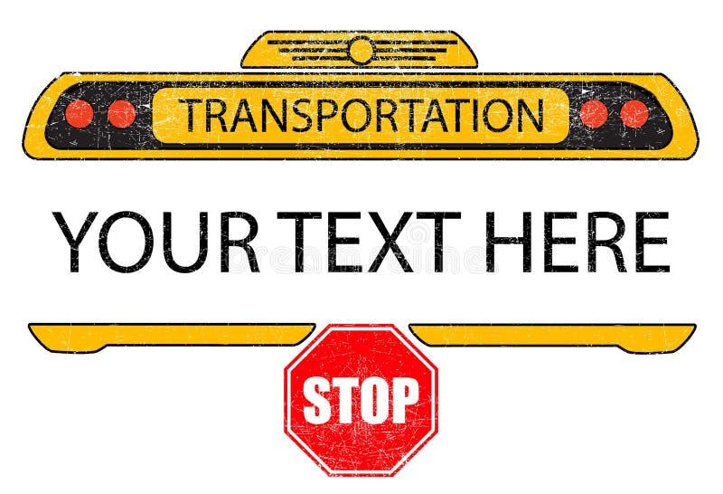 Diseño apenado de la camiseta del vector del autobús escolar ilustración del vector