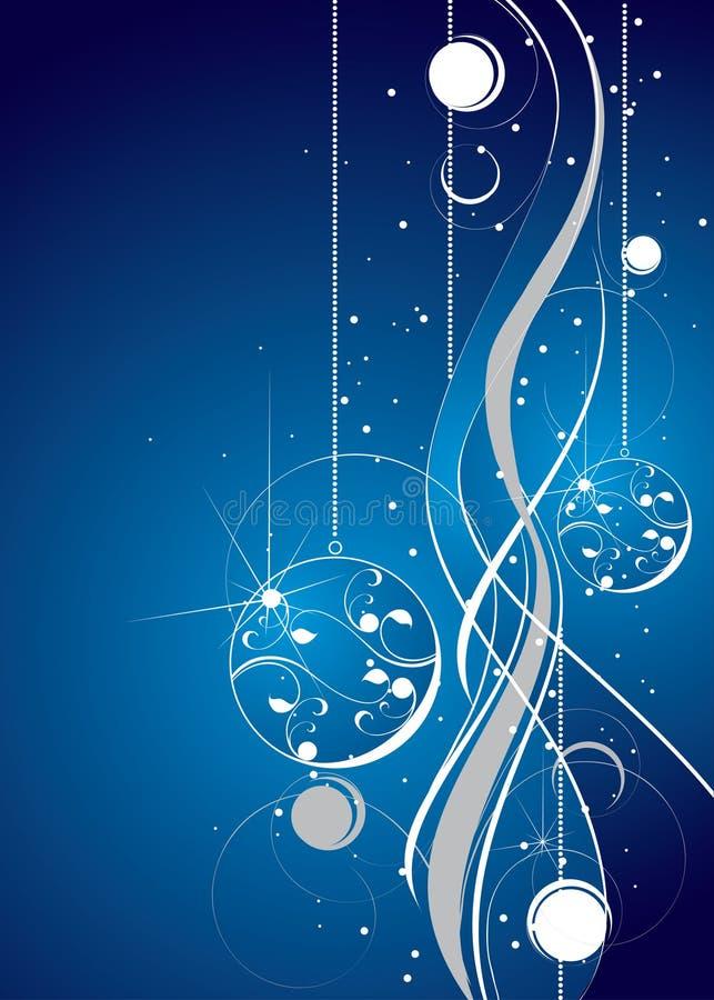 Diseño artístico azul y blanco ilustración del vector