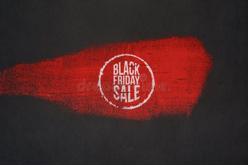 Diseño artístico de la cartelera de la venta de Black Friday stock de ilustración