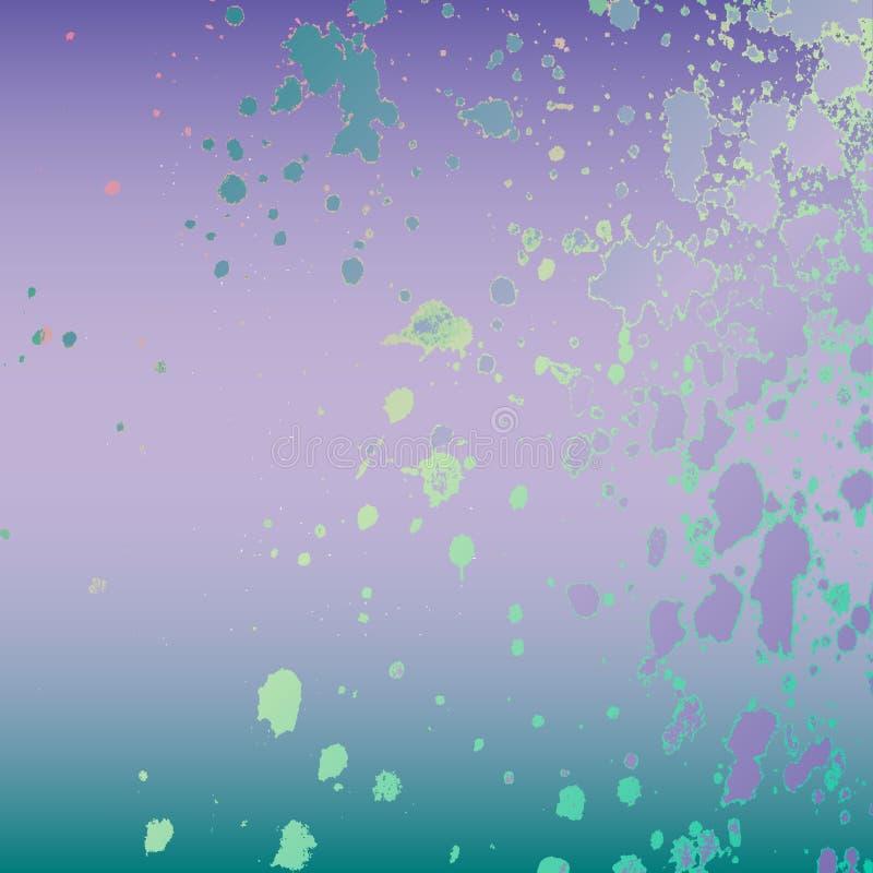 Diseño artístico de la plantilla de la explosión de la salpicadura de neón de la pintura Chapoteo colorido de la textura de la ti stock de ilustración