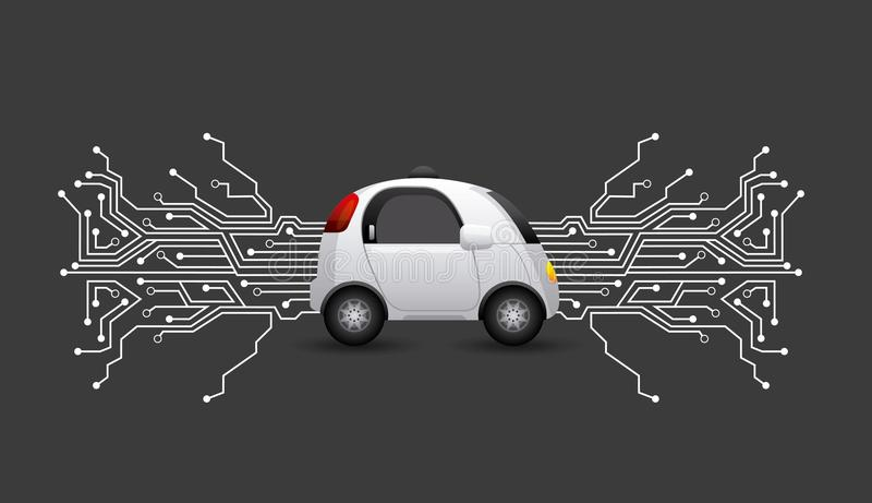 Diseño autónomo del coche ilustración del vector