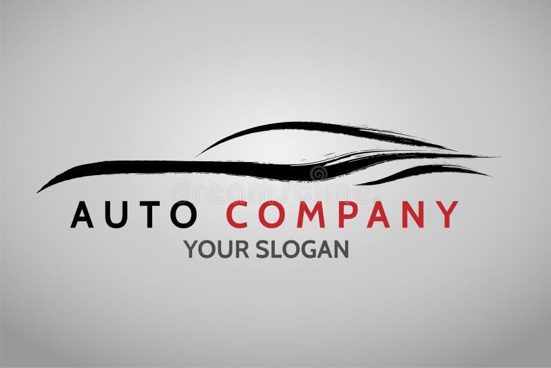 Diseño auto del logotipo del concesionario de coches ilustración del vector