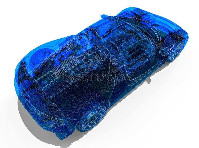 Diseño automatizado del coche ilustración del vector