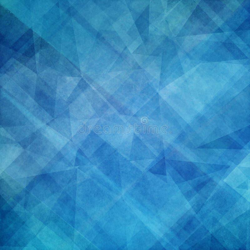 Diseño azul abstracto del fondo con capas de formas y de polígonos del triángulo ilustración del vector