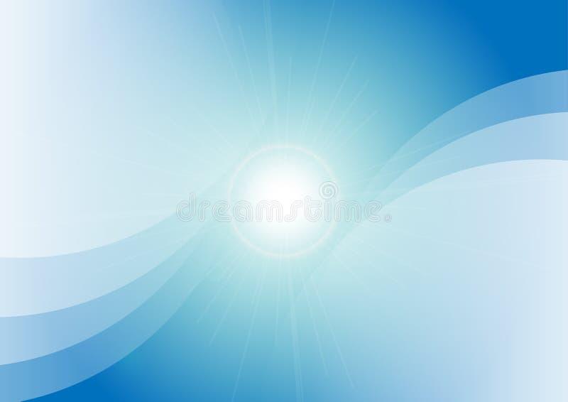 Diseño Azul Abstracto Del Fondo De La Primavera Del Color Vecto Del ...