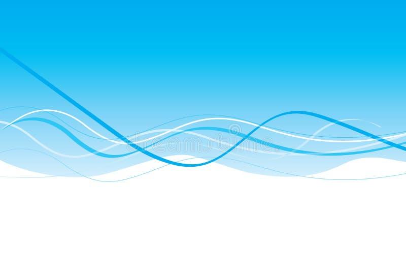 Diseño azul claro de la onda fotografía de archivo