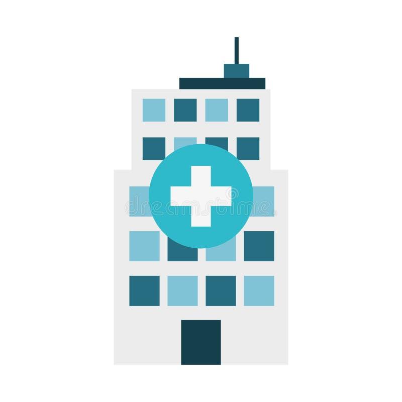 diseño azul de la imagen del hospital stock de ilustración
