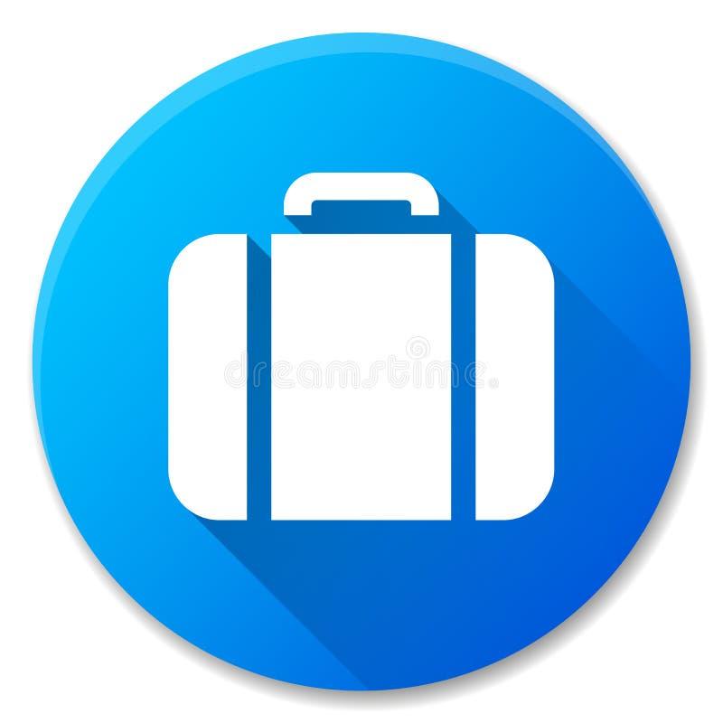 Diseño azul del icono del círculo de la maleta libre illustration