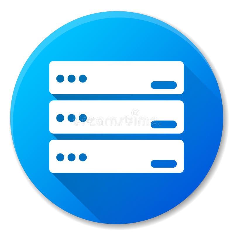 Diseño azul del icono del círculo del servidor ilustración del vector