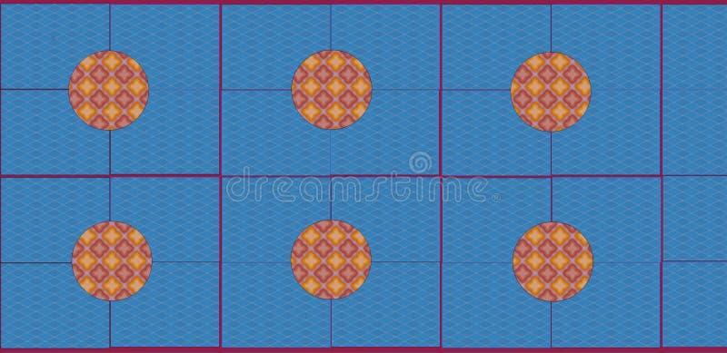 Diseño azul hermoso de la teja de la piscina del color por la herramienta de diseño gráfico libre illustration