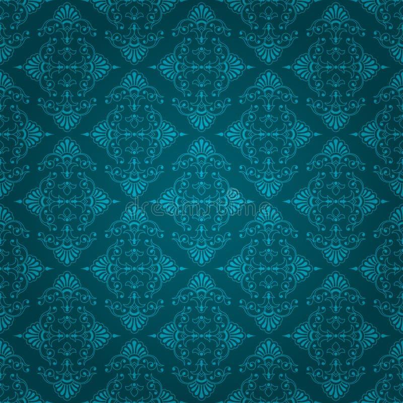 Dise o azul incons til del papel pintado del vintage for Papel empapelar barato