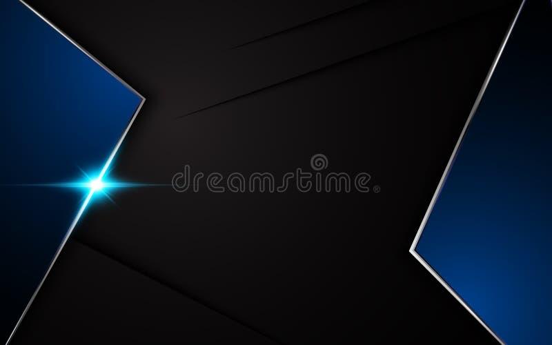 Fondo Azul Metálico Abstracto De Diseño Moderno De La: Diseño Azul Metálico De La Plantilla De La Disposición Del