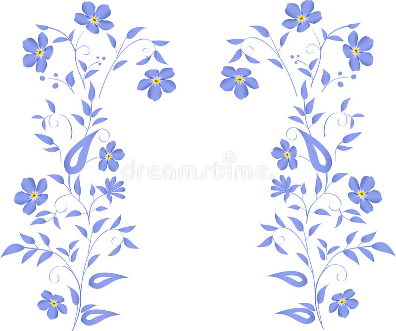 Diseño azul simple de las flores libre illustration