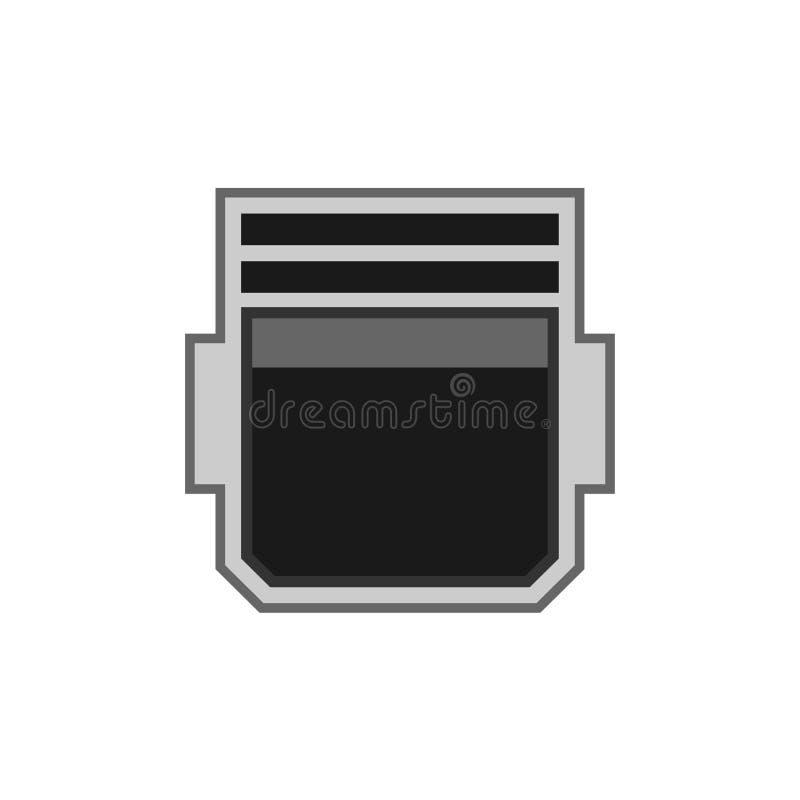 Diseño blanco aislado icono plano del vector del equipo del puerto de la conexión electrónico libre illustration