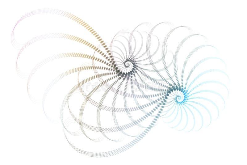 Diseño blanco azul del extracto del fractal stock de ilustración
