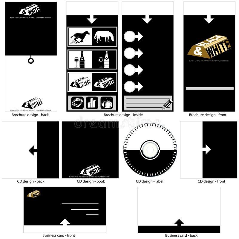 Diseño blanco y negro de la plantilla. libre illustration