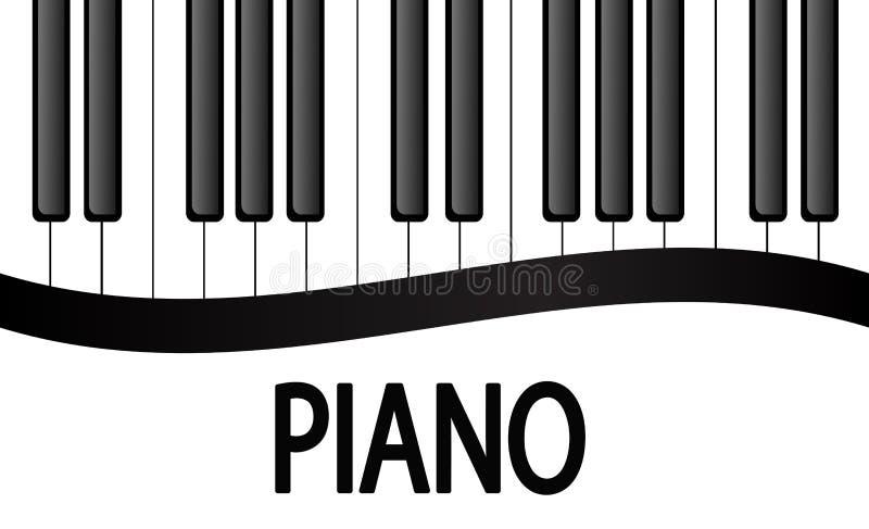 Diseño blanco y negro del fondo de las llaves del piano Vector común Illus ilustración del vector