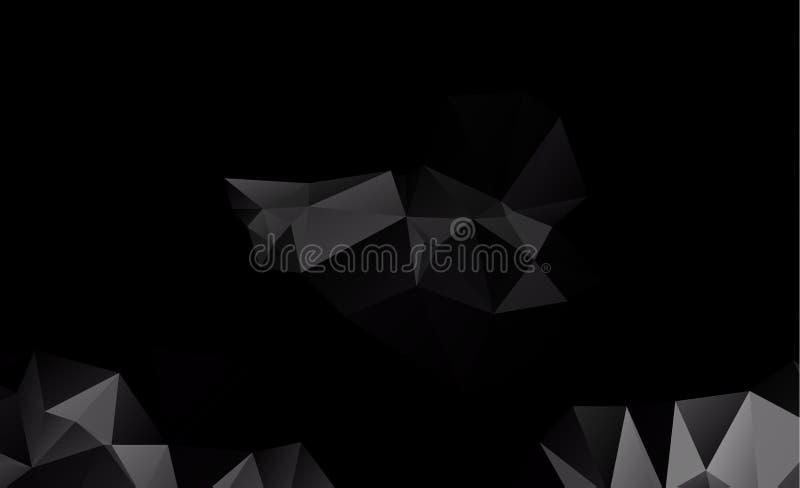 Diseño borroso del fondo del triángulo del vector oscuro stock de ilustración