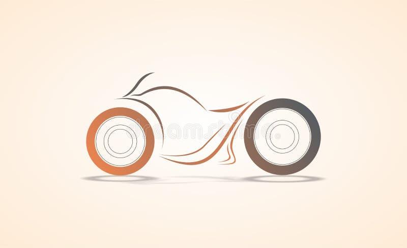 Diseño/bosquejo estupendos del extracto de la bici en el ejemplo del vector de curvas ilustración del vector