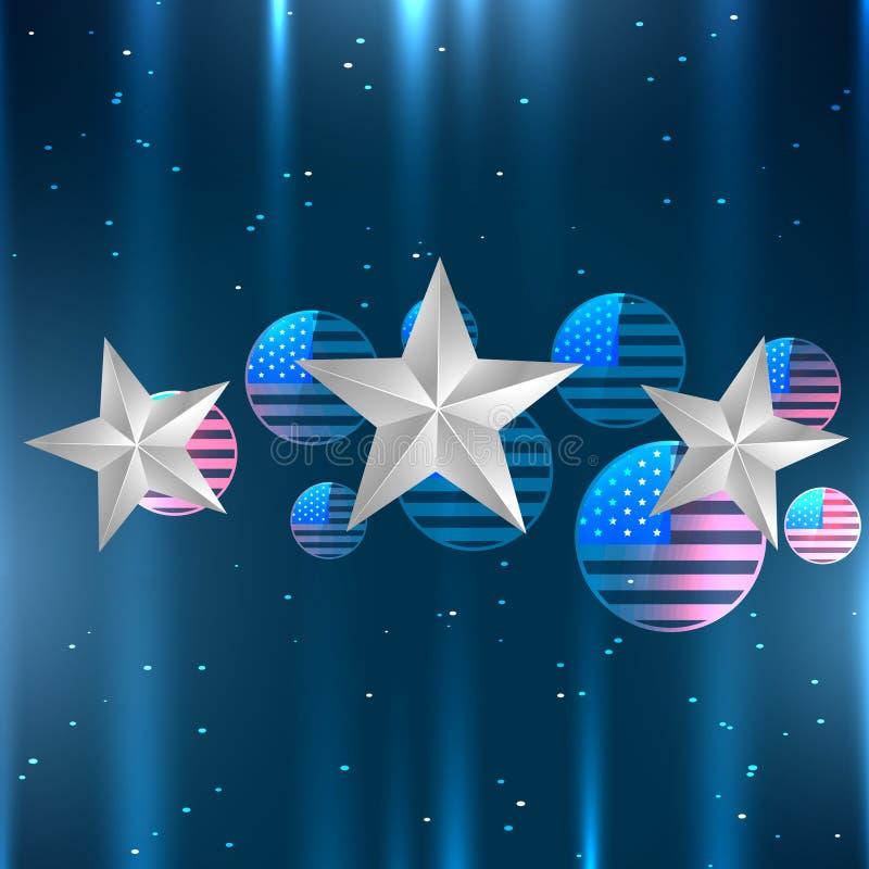 Download Diseño Brillante De La Bandera Americana Ilustración del Vector - Ilustración de extracto, día: 41919408
