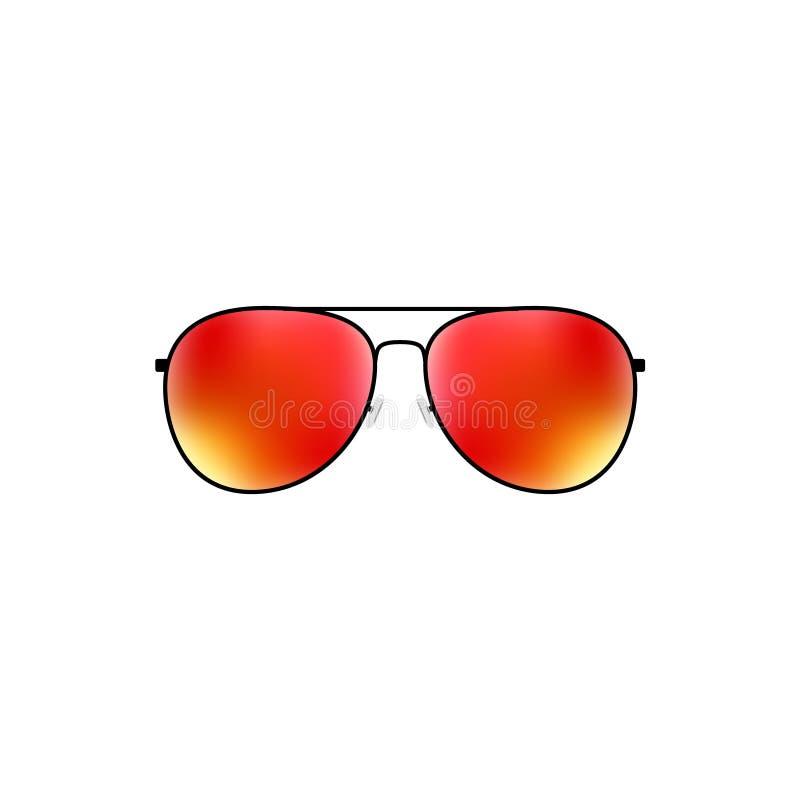 Diseño brillante de las gafas de sol tipo aviador del vector stock de ilustración