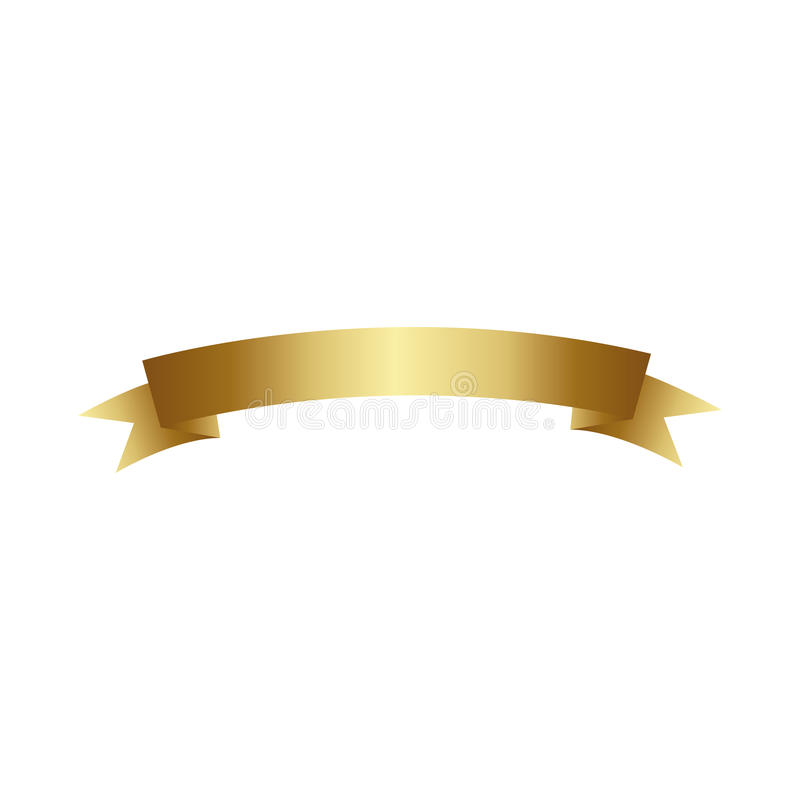 diseño brillante del icono de la cinta del color oro libre illustration