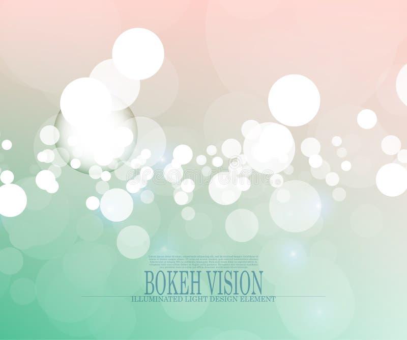 Diseño brillante II del fondo de la visión abstracta del bokeh del vector stock de ilustración