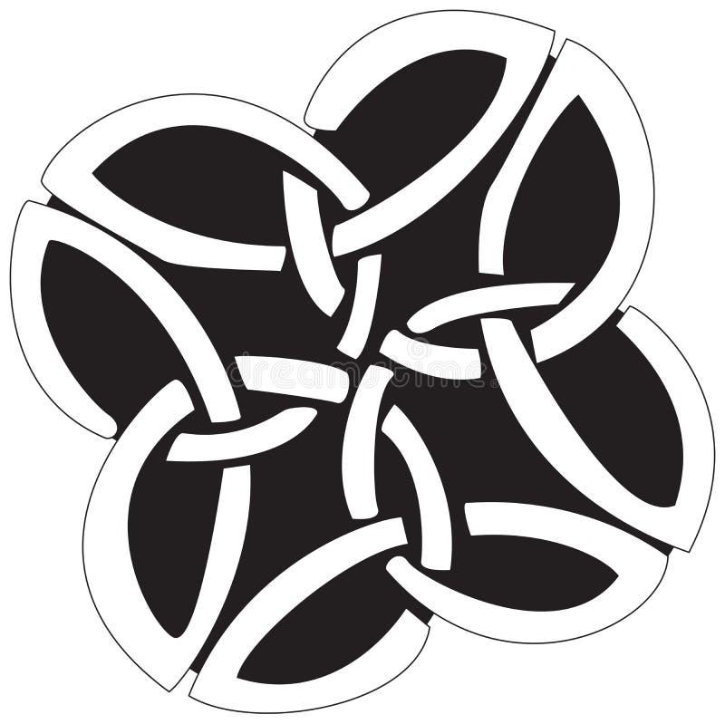 Diseño céltico stock de ilustración