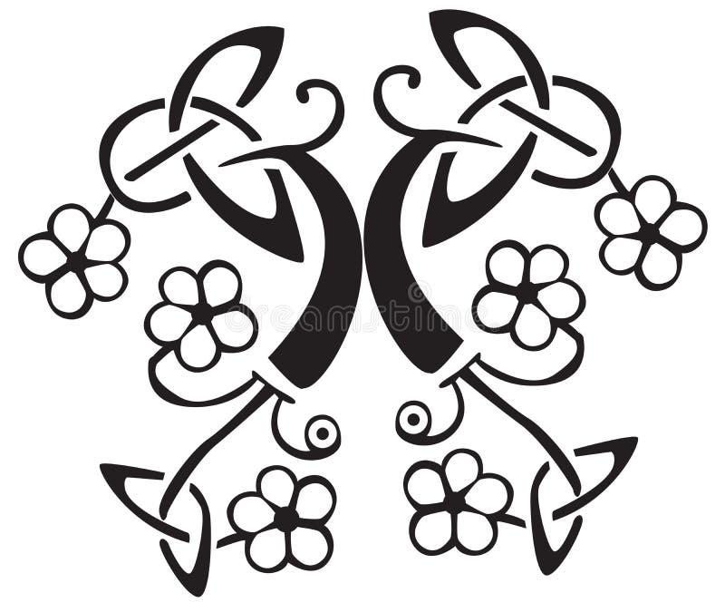 Diseño céltico de la flor   stock de ilustración
