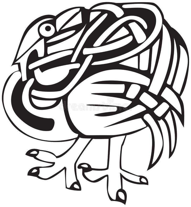 Diseño céltico del pájaro stock de ilustración