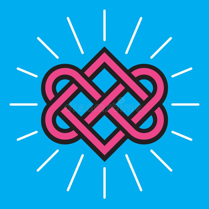Diseño céltico del vector del nudo de amor ilustración del vector