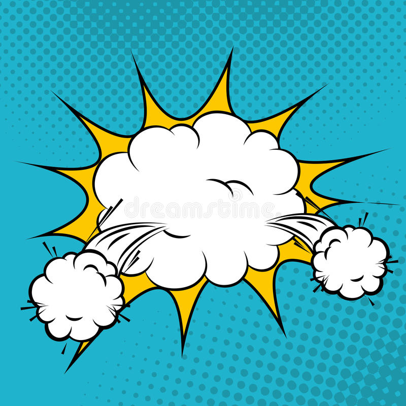 Diseño cómico de las burbujas del arte pop ilustración del vector