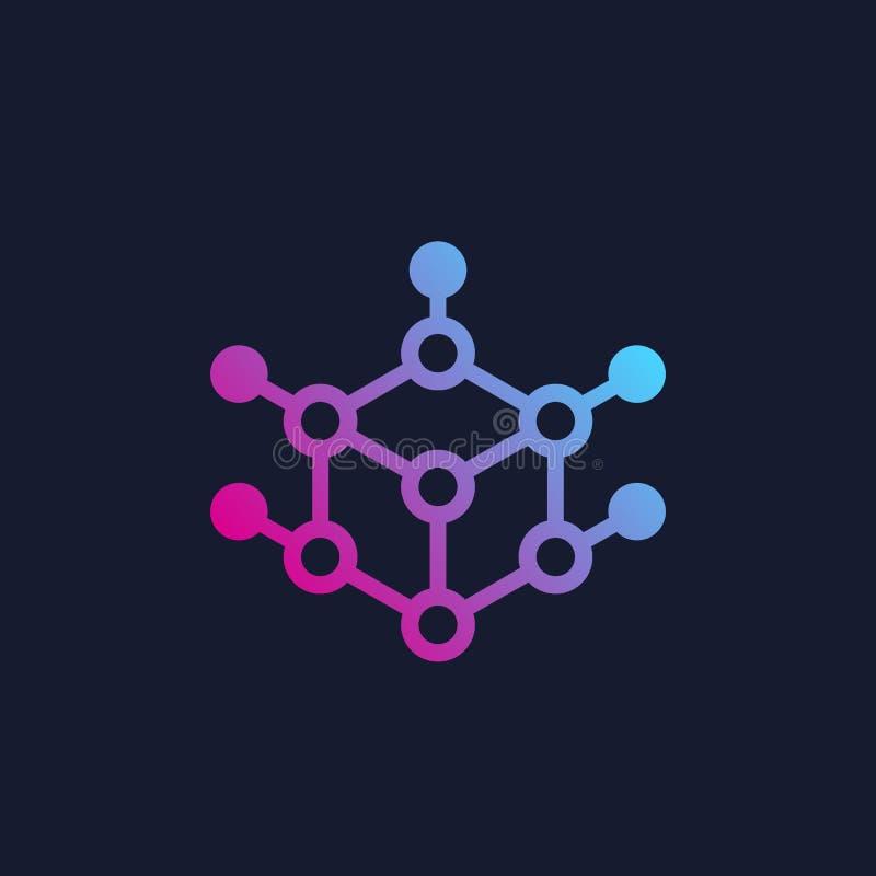 Diseño cúbico del logotipo, vector ilustración del vector