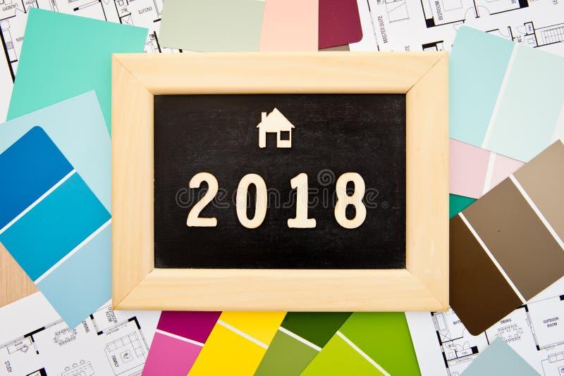 2018 - Diseño casero imagen de archivo libre de regalías