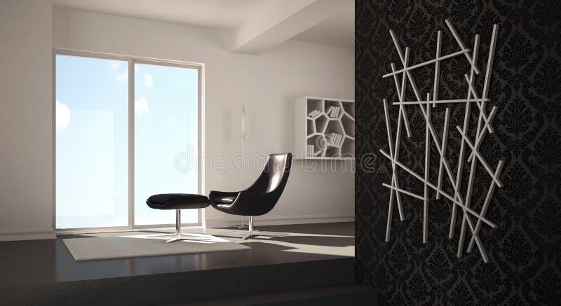 Diseño casero moderno interior stock de ilustración
