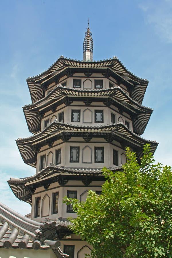 Diseño Chino Del Edificio Del Estilo Del Templo Imágenes de archivo libres de regalías