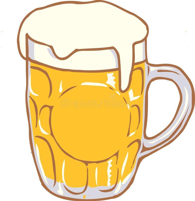 Diseño Clipart del vector de la taza de cerveza ilustración del vector