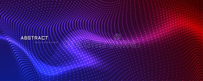 Diseño coloful abstracto de la bandera de las partículas stock de ilustración