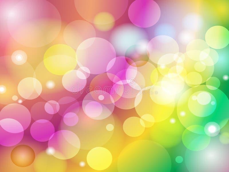 Diseño colorido abstracto del fondo de Bokeh de la falta de definición ilustración del vector