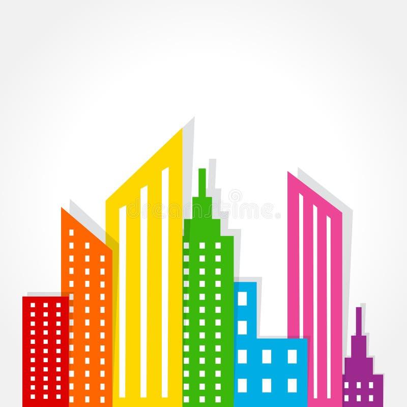 Diseño colorido abstracto del fondo de las propiedades inmobiliarias ilustración del vector