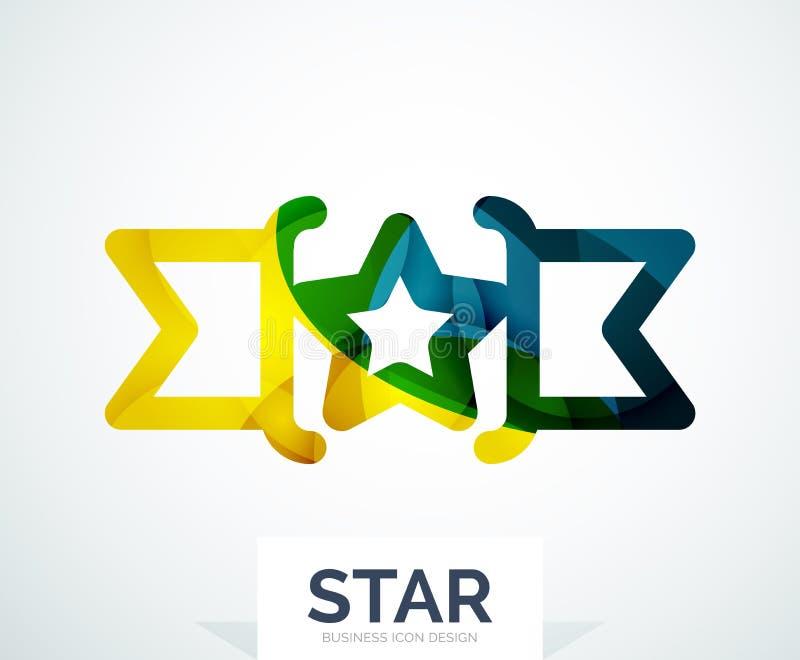 Diseño colorido abstracto del logotipo ilustración del vector
