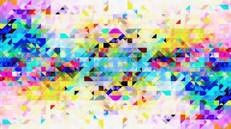 Diseño colorido abstracto del modelo de las formas del triángulo ilustración del vector
