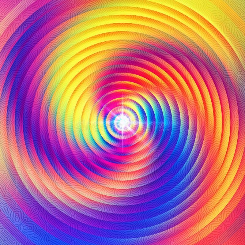 Diseño colorido abstracto espiritual de la meditación stock de ilustración