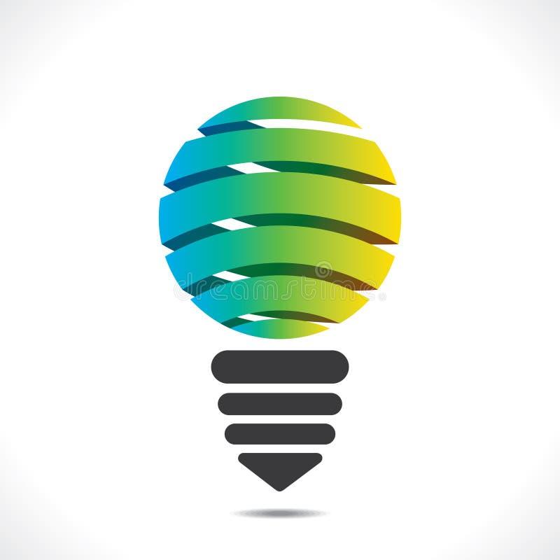 Diseño colorido creativo del bulbo stock de ilustración