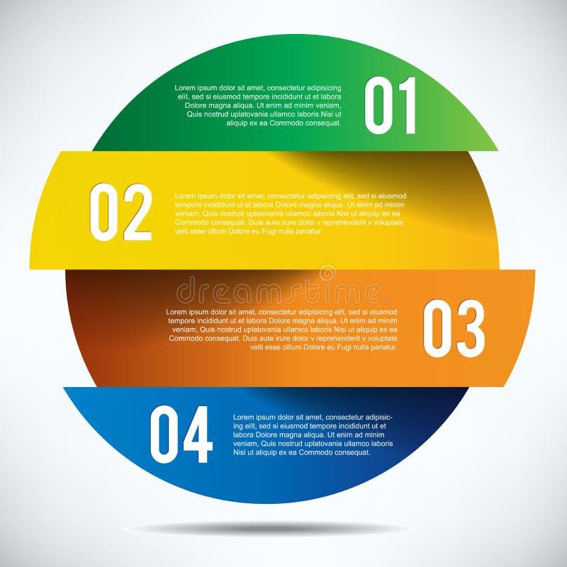 Diseño colorido de la bandera del infographics con el texto libre illustration