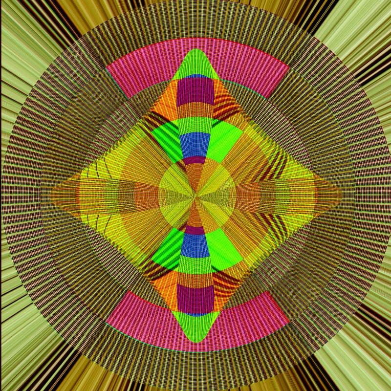 Diseño colorido de la tela con colores del arco iris ilustración del vector