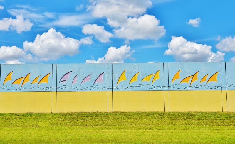 Diseño colorido de las barreras del ruido de la Florida imagen de archivo libre de regalías